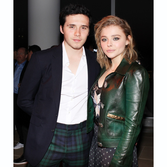 Brooklyn Beckham and Chloe Grace Moretz were quite the matching duo at the FN Achievement Awards in NYC. The actress was overheard saying how it was nice the event was in Manhattan as it gave her an excuse to visit her boyfriend.