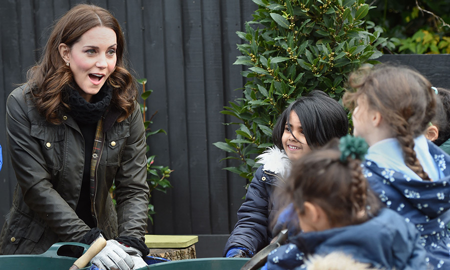 "The Duchess of Cambridge got her hands dirty as she revealed the passion she is passing on to her children Prince George and Princess Charlotte during a visit to a primary school in London. Kate, who was visiting Robin Hood Primary School to see its gardening campaign, said she had ""fond memories"" of being outdoors as a child. She helped children plant winter bulbs during the chilly Wednesday morning engagement, and gave a speech, saying: ""I've got such fond memories of being in the garden and being outside from my own childhood, and I'm sharing that with my own children, George and Charlotte, at the moment.""