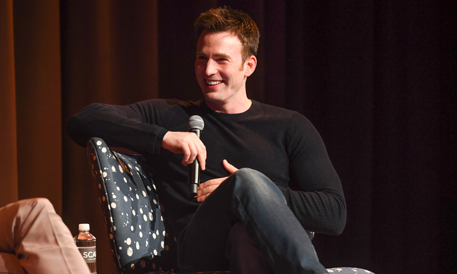 Chris Evans served as the moderator for his <i>Avengers</i> co-stars Elizabeth Olsen and Jeremy Renner as they discussed their latest project <i>Wind River</i> in Atlanta.