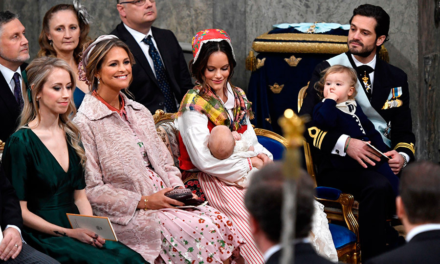 "Mom-of-two Princess Madeleine, second from left, who married British American financier Chris O'Neill in 2013, revealed her third pregnancy in August. ""Chris and I are thrilled to announce that I am expecting,"" the 35-year-old shared on her Facebook page. ""We look forward to four becoming five!""