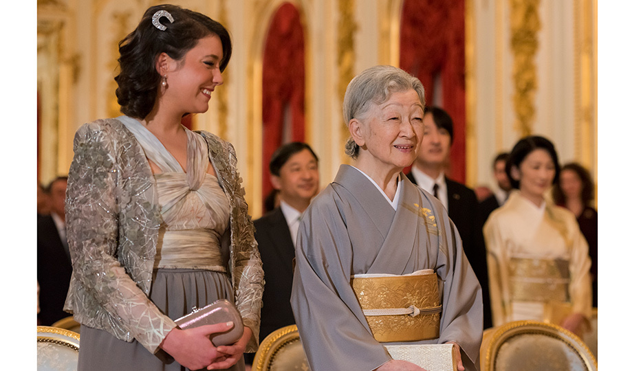 Princess Alexandra and Empress Michiko seemed to get along very well at a concert held at Akasaka Palace.
