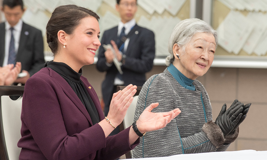 princess alexandra of luxembourg fills in for her mother on first royal visit to japan hello us. Black Bedroom Furniture Sets. Home Design Ideas