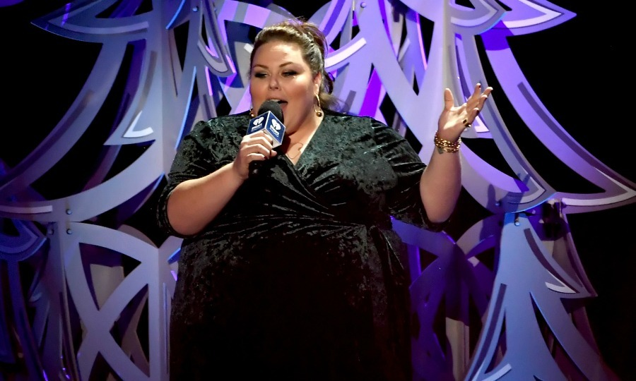 Chrissy Metz was also on hand at the Jingle Ball concert, taking to the stage to introduce one of the evening's acts. The <i>This is Us</i> star got in the holiday spirit, wearing a deep green velvet Kiyonna dress. She accessorized with some stunning David Yurman jewelry.