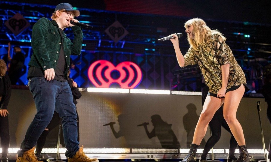 Everything has changed! Ed Sheeran and Taylor Swift reunited onstage at 102.7 KIIS FM's Jingle Ball 2017 presented by Capital One at The Forum on December 1 in L.A. As the crowd roared the talented duo performed the duet <i>End Game</i>, from Taylor's new album, live for the first time ever. 