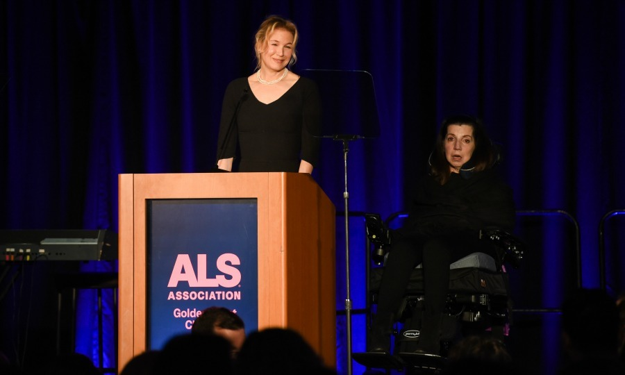 Renee Zellweger supported her good friend Nanci Ryder (right) at the ALS Golden West Chapter Hosts Champions For Care and a Cure at the Fairmont Miramar Hotel & Bungalows on December 2 in Santa Monica. Nanci, a BWR co-founder and power publicist, revealed her ALS diagnosis back in 2014. She had previously repped stars like Reese Witherspoon, Leonardo DiCaprio and Michael J. Fox.
