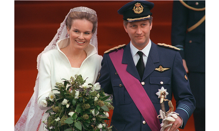 The 39-year-old son of King Albert II and Queen Paola was dashing in his uniform as he wed his aristocratic love at the Cathedral following a civil ceremony at the Town Hall. The wedding was seen as helping bridge the gap between Belgium's two communities, as Mathilde had been living in the French-speaking part of the country, but came from a noble Flemish family.