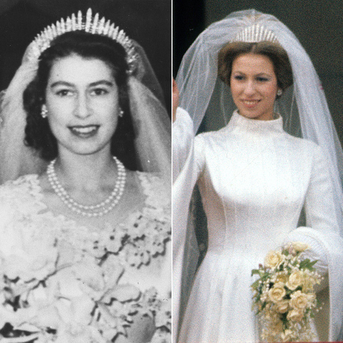 Princess anne wedding veil