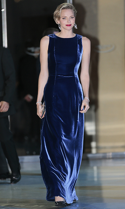 In 1963, singer Bobby Vinton crooned 'She wore blue velvet...' and the song gained new life with David Lynch's film of the same name in 1986. Decades later blue velvet still has an irresistible allure. Need proof? Princess Charlene wore a floor-sweeping blue velvet gown for the annual Monaco Against Autism gala at the Monte-Carlo Sporting Club in November 2013, a look that still is on point nearly five year later.