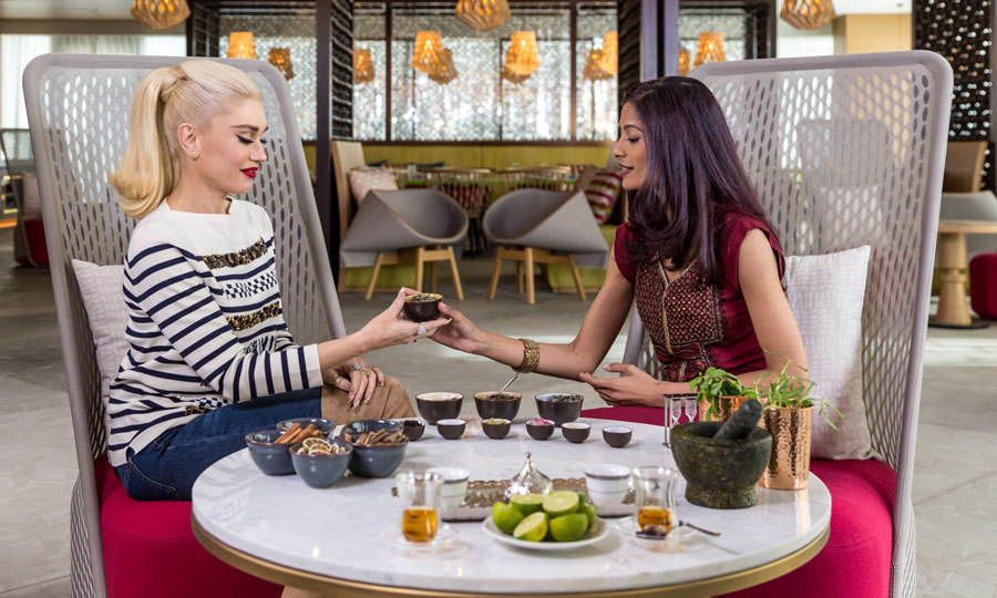 Before taking the stage to perform her hits and her new holiday songs for Marriott Rewards and Starwood Preferred Guest (SPG) members at the grand opening of the Renaissance Downtown Hotel in Dubai, she enjoyed a tea ritual at BHAR.