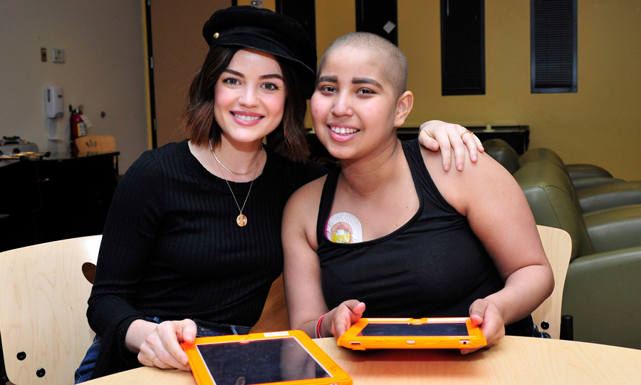 Lucy Hale had a friendly Word with Friends 2 competition with Children's Hospital Los Angeles (CHLA) 17-year-old patient Laura. After the game, the <i>Life Sentence</i> actress had a special announcement sharing that the gaming company would be donating $75,000 to the hospital in honor of the teen, who beat the star.