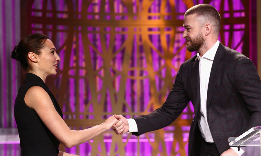 "<a href=""https://us.hellomagazine.com/tags/1/justin-timberlake/""><strong>Justin Timberlake</strong></a> gave <i>Wonder Woman</i>'s <a href=""https://us.hellomagazine.com/tags/1/gal-gadot/""><strong>Gal Gadot</strong></a> a hand as she reached the stage during the Women in Entertainment Breakfast. The actress and the <i>Can't Stop the Feeling</i> singer presented a few lucky students with scholarships.