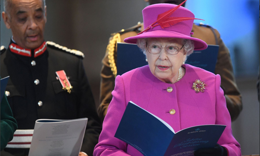 Queen Elizabeth was a vision in fuchsia as she attended the 150th anniversary of the Scripture Union on December 6. After the service, Her Majesty met with well-wishers outside of the church.