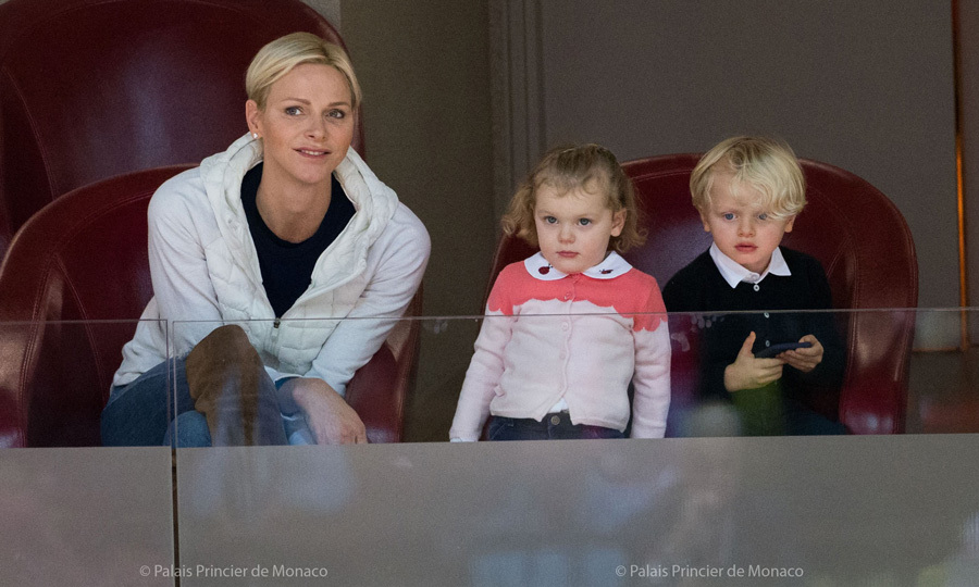 Ahead of their third birthday (December 10), Prince Jacques and Princess Gabriella attended the French Pro A basketball match between Monaco and Chalon sur Saone with their mother Princess Charlene on December 2 in Monaco.