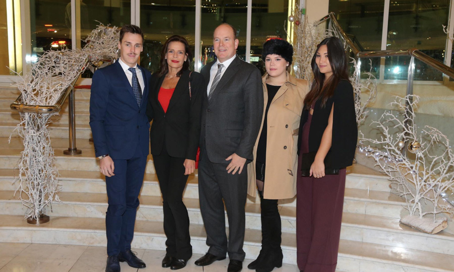 Princess Stephanie, who is the President of the Fight AIDS Monaco Association, was joined by her brother Prince Albert, daughter Camille Gottlieb (second from the right) and her son Louis Ducruet (left) in addition to his girlfriend Marie Chevalier (right) during World AIDS Day on December 1.