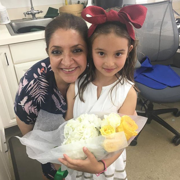 "The first daughter's little girl paid a visit to the White House flower shop. Alongside the image, the mom-of-three wrote: ""#TBT to Arabella making the most beautiful bouquet for her teachers. Thank you to the Chief Florist Hedieh in the White House Flower Shop. This may be Arabella's favorite thing to do when she visits Grandpa!""