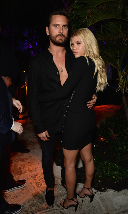 Sofia Richie and Scott Disick were a coordinating couple at DuJour And WellNEST's kick off to Miami Beach's Art Basel at the Confidante hotel Earlier in the day, the two caught some sun with Sofia in a red bikini. 