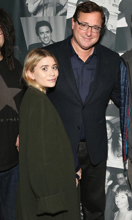 "Danny and Michelle Tanner together again! Ashley Olsen had a <i>Full House</i> reunion with her former TV dad Bob Saget at the Scleroderma Research Foundation's ""30th Anniversary Cool Comedy —Hot Cuisine"" event held at New York City's Caroline's Comedy Club on December 5.