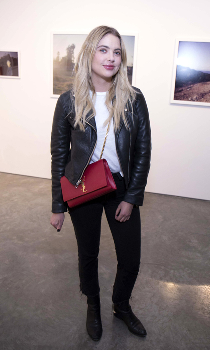 Ashley Benson previewed the Anton Yelchin: Provocative Beauty exhibit in NYC, which features a selection of 54 images that the actor took over six years prior to his death. 