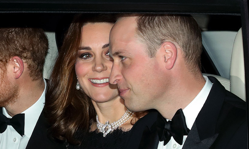In November 2017, Kate was spotted wearing a four-strand pearl choker for Queen Elizabeth and Prince Philip's 70th anniversary celebration at Windsor castle. The piece features a central diamond clasp and was commissioned using a collection of cultured pearls given to Queen Elizabeth by the Japanese government, and was worn by Princess Diana during the 1980s. 