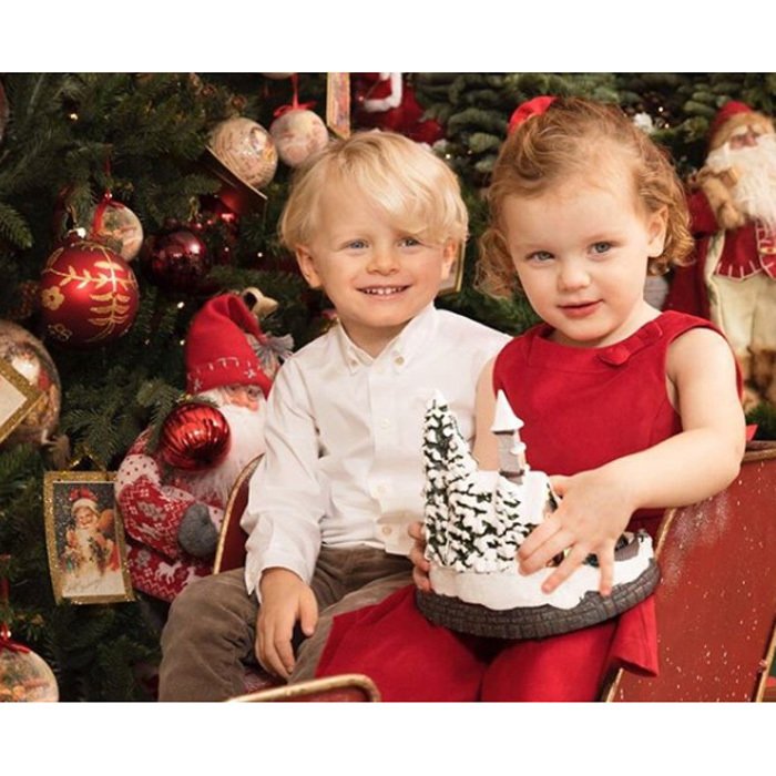 December 2017: Three days after celebrating her twins Prince Jacques and Princess Gabriella's third birthday, Princess Charlene shared an adorable Christmas photo of her children. The siblings, who turned three on December 10, looked all grown up in the new picture posted on Her Serene Highness' Instagram on Wednesday, December 13.