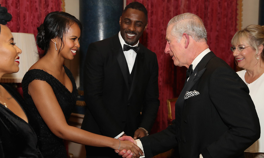 Idris Elba introduced his girlfriend Sabrina Dhowre to Prince Charles at the One Million Young Dinner at Buckingham Palace on December 14. 