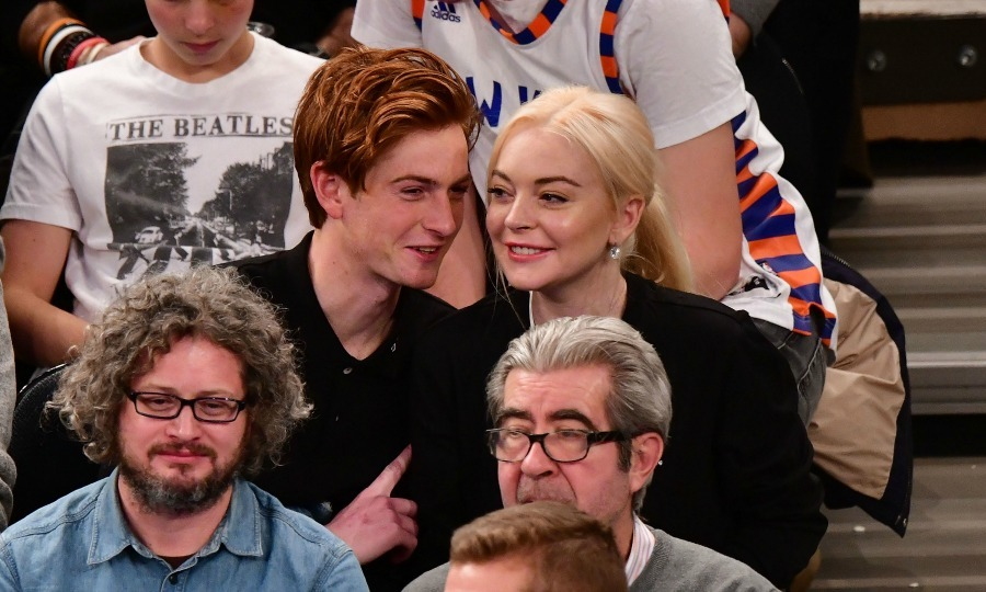 Lindsay Lohan was also at the big Saturday night Knicks game at MSG with family. The star, who recently made her big return to NYC after traveling abroad, attended the event with her younger brother Cody. The pair seemed to have a wonderful time, cheering for the home team and sharing some laughs.