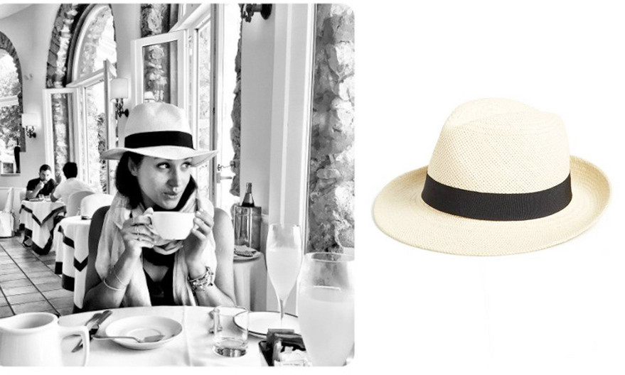 One of Meghan's Instagram co-stars seems to be her trusty Panama hat! To get the look, snap up this version by Halogen, woven from natural paper straw.
