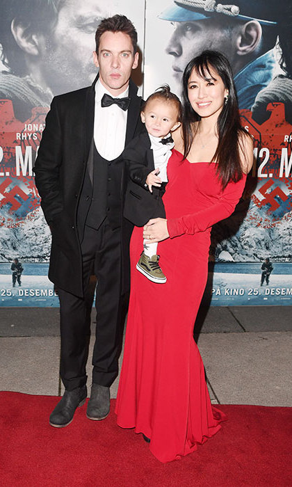 Jonathan Rhys Meyers' baby son Wolf made his red carpet debut on December 18, sharing the spotlight with his actor dad and mom at the <I>12th Man</I> premiere in Norway. Dressed in a tiny tuxedo, the one-year-old perfectly matched his Hollywood star dad.
