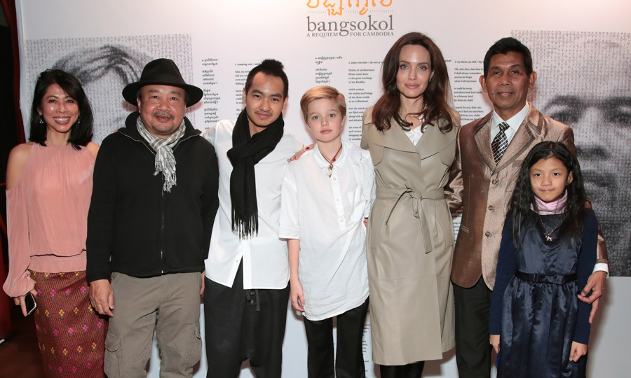Angelina Jolie stepped out with her two children, Shiloh and Maddox for the Bangsokol: A Requiem for Cambodia at BAM (Brooklyn Academy of Music) on December 16.