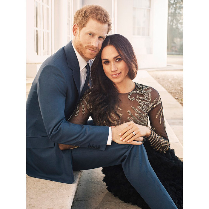 Harry and Meghan's official engagement portraits, released on December 21, 2017, were some of their most romantic photos to date. The official portraits were taken at Frogmore House, Windsor, near the site of the couple's future royal wedding, by famed photographer and Polish Prince Alexi Lubomirski.