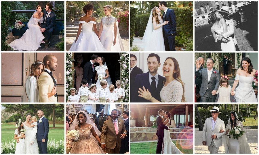 <b>Despite the ups and downs of 2017, this year was filled with moments of pure love and joy for some of the world's most famous couples. The Duchess of Cambridge's sister Pippa Middleton had a glorious almost-royal English countryside wedding, new mom Serena Williams wed Alexis Ohanian in a star-studded lavish ceremony, Meghan McCain's dad Senator John McCain walked her down the aisle and Patton Oswalt found love again, tying the knot with Meredith Salenger.