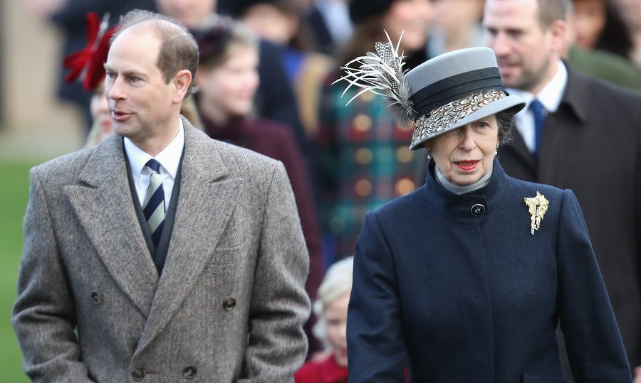 The family lineup also included Queen Elizabeth and Prince Philip's youngest son and only daughter, Prince Edward and Princess Anne, who arrived together for the St Mary Magdalene church service. 