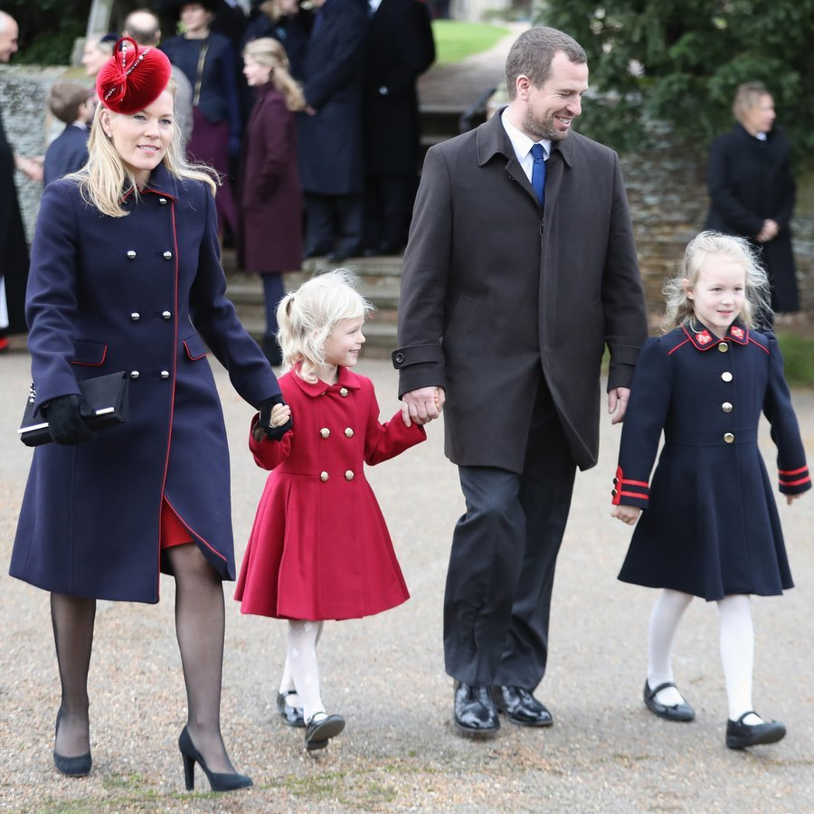 Meanwhile Queen Elizabeth's oldest grandson – and Princess Anne's son – Peter Phillips arrived with Canadian-born wife Autumn Phillips, and adorable daughters Isla and Savannah.