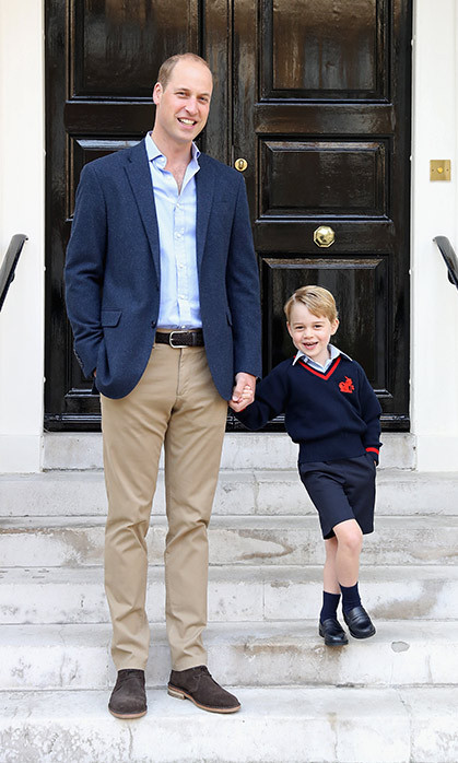 PRINCE GEORGE HEADS TO SCHOOL