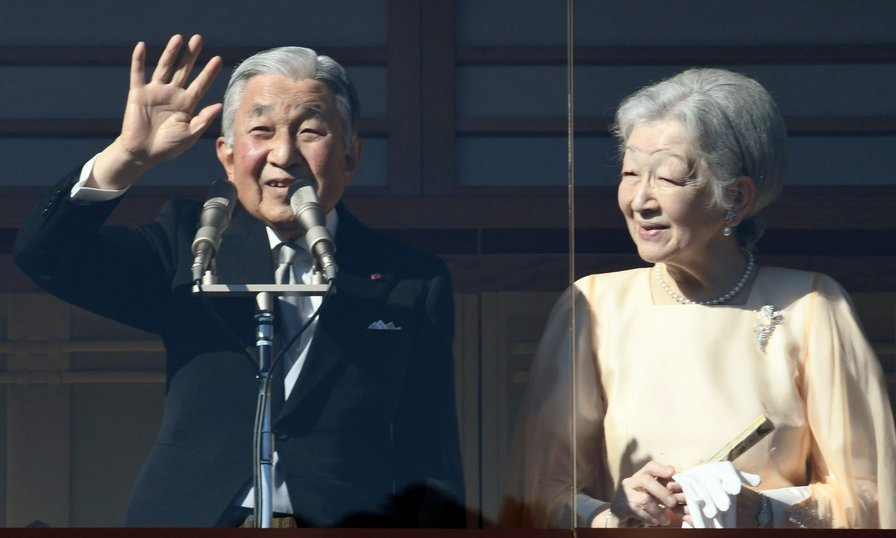 Standing on the balcony of the Imperial Palace in Tokyo on December 23, Emperor Akihito waved to well-wishers who had gathered to celebrate his 84th birthday. The Emperor, who plans to abdicate in 2019, was joined by Empress Michiko, his wife of 58 years. 