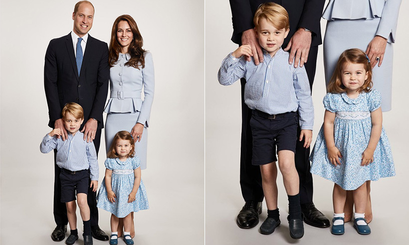 "On December 18, Prince William and Kate Middleton released an official Christmas photo with their two adorable children, Prince George and Princess Charlotte. The beautiful family photo was shared on Kensington Palace's official Twitter account, and the caption read: ""The Duke and Duchess of Cambridge are pleased to share a new photograph of their family. The image features on Their Royal Highnesses' Christmas card this year. The photograph was taken earlier this year by @ChrisJack_Getty at Kensington Palace.""