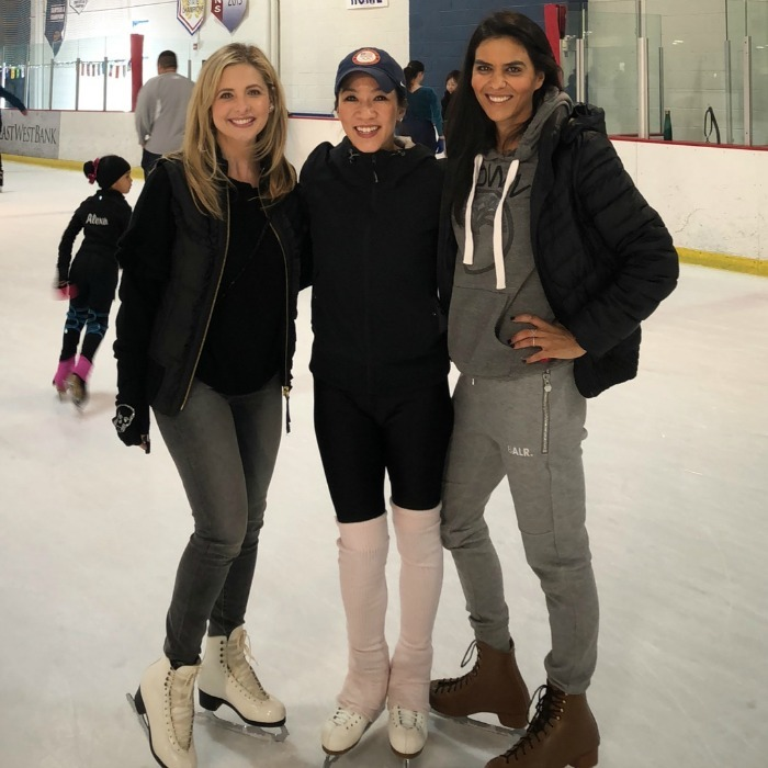 Sarah Michelle Gellar treated her daughter to the skating lesson of a lifetime! The 40-year-old actress took little Charlotte ice skating with two-time Olympic medalist Michelle Kwan on December 29. Sarah and her friend Elsa Collins took their kids to a private lesson with the athlete at East West Ice Palace in Artesia, California.