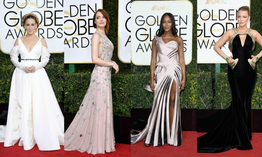The ladies at the 2017 Golden Globes brought all the shimmer and shine to the red carpet. Scroll through for every eye-turning gown that hit the first ceremony of awards season.