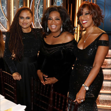 Cecil B. DeMille Award honoree Oprah Winfrey was on the scene with BFF Gayle King and director Ava DuVernay.