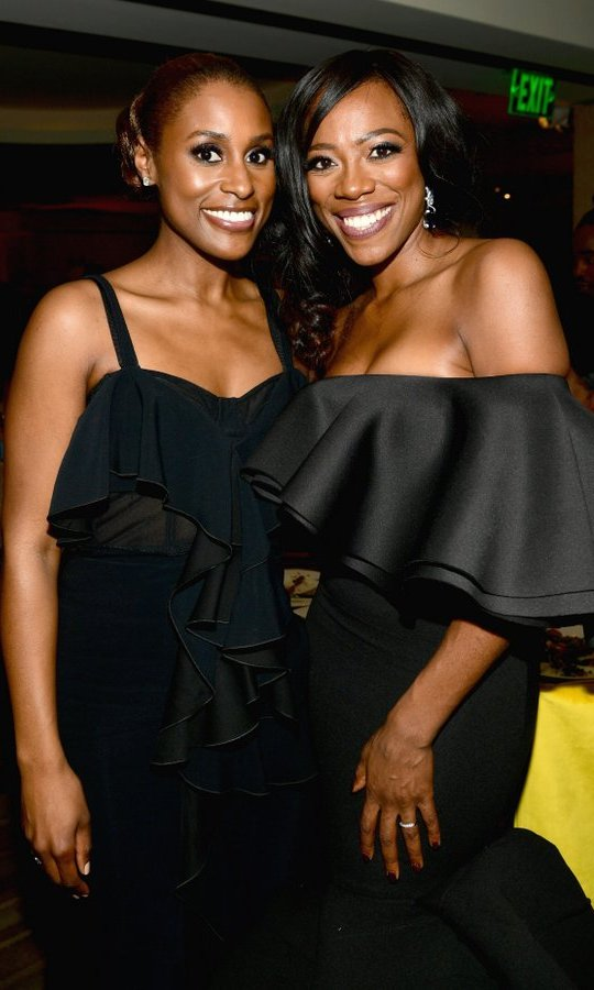 Golden Globe nominee Issa Rae and Yvonne Orji of HBO's <I>Insecure</I> stepped out for the network's glittering celebration. 