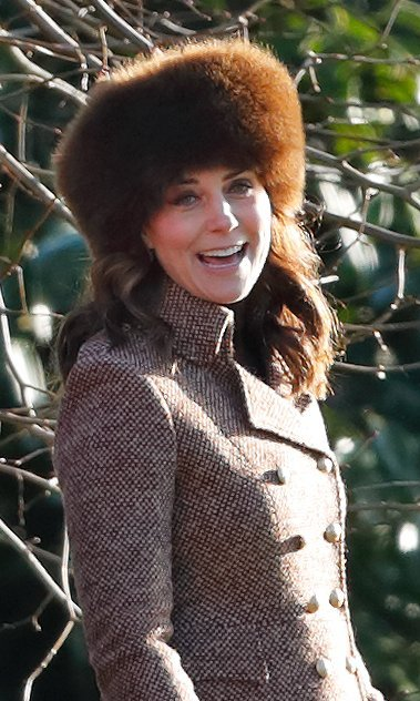 Kate proved that she's a big fan of the cozy hat style again when she wore this Lacorine design, in brown, in January 2018 to another service at Sandringham's St Mary Magdalene church.