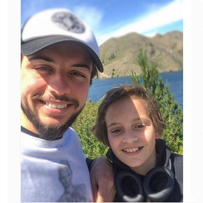 Against the gorgeous backdrop of the great outdoors, Crown Prince Hussein of Jordan, 23, shared this fun selfie co-starring his 12-year-old little brother Prince Hashem on his Instagram page.