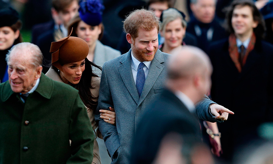 Closing out Meghan and Harry's exciting 2017, all eyes were on the couple as they made their debut together with the royal family at the traditional Christmas Day service at Sandringham. As the bride to be clutched her future husband's arm, he was happy to show her the ropes during the high profile occasion.