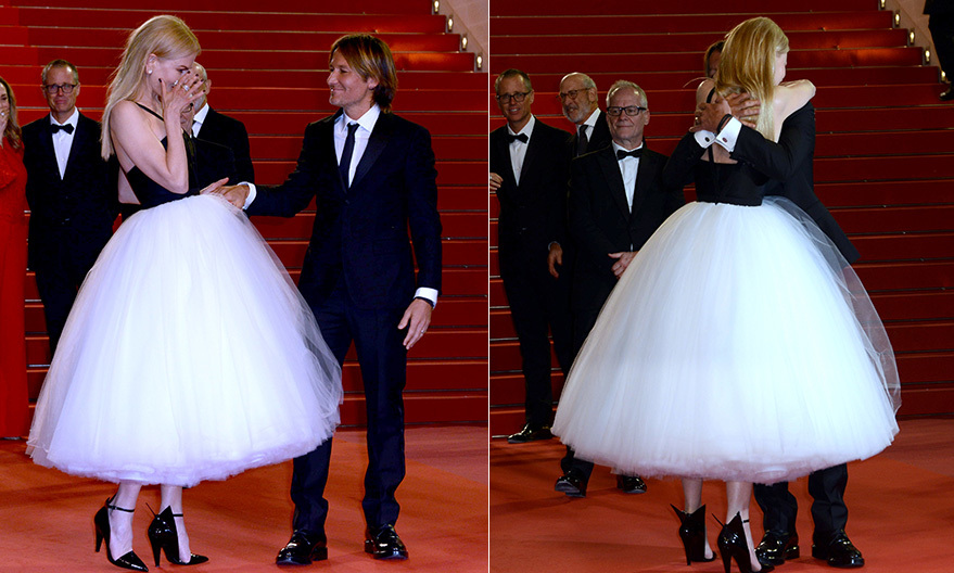 The belle of the ball had her prince right by her side during the 2017 Cannes Film Festival where Nicole premiered <i>The Killing Of A Sacred Deer</i>. And after she got emotional when a special song played, Keith swept the star into his arms for an embrace.