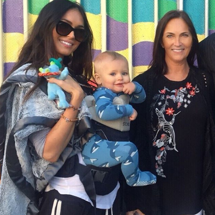 """Megan Fox shared a rare photo of her and Brian Austin Green's youngest son Journey with her mom Gloria on January 11, 2018. The mom-of-three captioned the photo of her one-year-old boy, """"Clone Wars"""" as the trio bare an uncanny resemblance. Photo: Instagram/@the_native_tiger"""