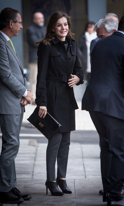 Queen Letizia meant business as she attended a meeting at the Fundeu BBVA Foundation on January 10 in Madrid, Spain.