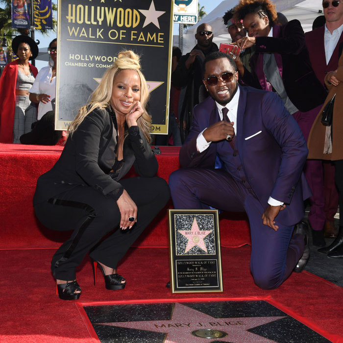 Mary J. Blige was <i>everything</i> and more at her Hollywood Walk of Fame star ceremony. The <i>Mudbound</i> actress was joined by longtime friend Sean 'Diddy' Combs at the event. Later that evening, she changed out of her suit and into a dress for the Critics' Choice Awards.