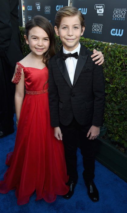 Brooklynn Prince and Jacob Tremblay stole an adorable moment on the red carpet of the Critics' Choice Awards together. The two pint-sized stars were both up for the Best Young Actor/Actress award, which ultimately went to  <i>The Florida Project</i> actress.