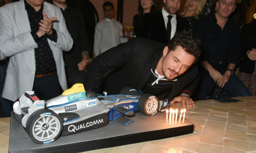 Make a wish! Just the day before, Orlando was in awe of his race car custom cake. He blew out the candles as his father Colin Stone and friends racer friends helped ring in his special day at Hotel Amanjena in Marrakech, Morocco.