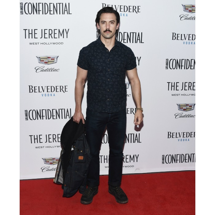 Alison's co-host wasn't too shabby! Milo Ventimiglia led the night with the <i>GLOW</i> star. The </i>This Is Us</i> actor, who was also a cover star for the magazine, kept things casual at the January 13 West Hollywood event, opting for a short sleeve button down and jeans. 